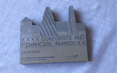 Commetric has won a silver award at the 2014 Corporate & Financial Awards