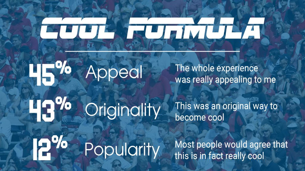 Formula to be a cool sports brand