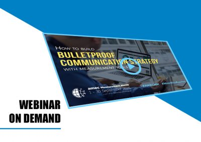 Webinar on demand: How to build bulletproof communication strategy with measurement tools