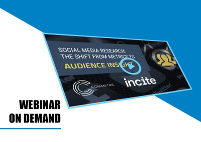 Webinar on demand: Social Media Research – the shift from metrics to audience insight