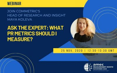 Commetric's Head of Research and Insight to Participate in AMEC's Ask the Expert Session